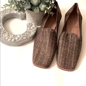 A. Marinelli Brown Raffia Slid In Loafers Size 10M